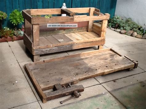 carpentry bench wooden old carpenter s bench pdf plans