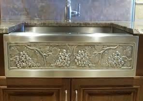 Designer Sinks Kitchens Hammered Copper Sinks Apron Front Copper Sinks