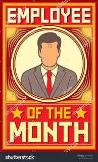 Employee Of The Month Poster Template by Employee Of The Month Design Stock Vector 281769098