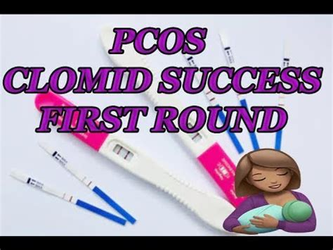clomid  cycle success pregnancy test pcos life