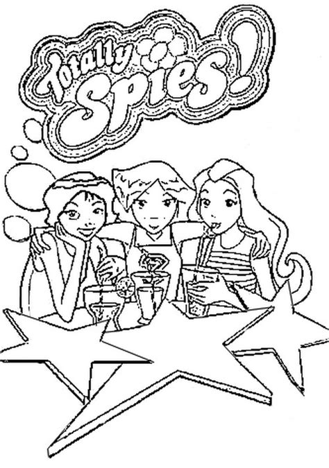 totally spies coloring pages coloringpages1001 com