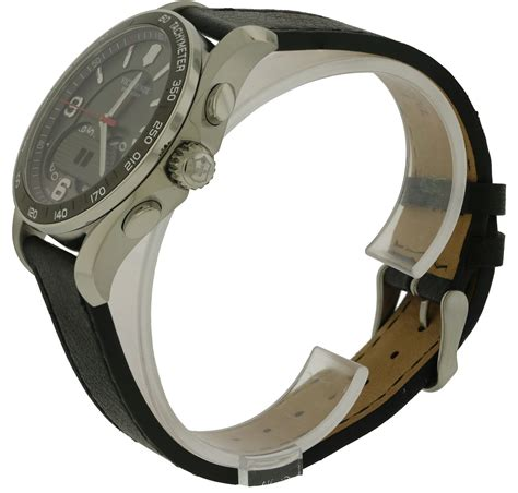 Swiss Army Date Leather Original swiss army victorinox chronograph leather mens
