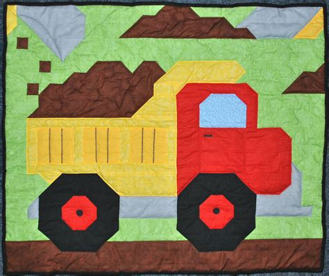 Size Quilts For Boys by Dump Truck Quilt Pattern Baby Boy Quilt Pattern Dump