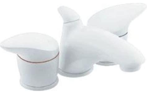 White Bathroom Faucet Fixtures Moen Villeta Mini Ws Glacier White Lav Faucet Trim Kit