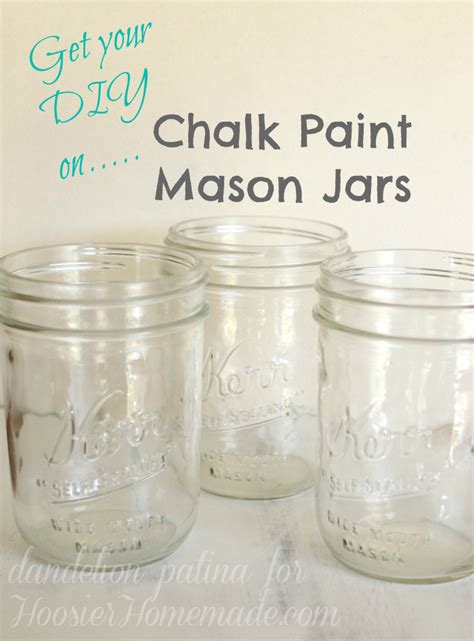 chalk paint jars chalk paint jars hoosier