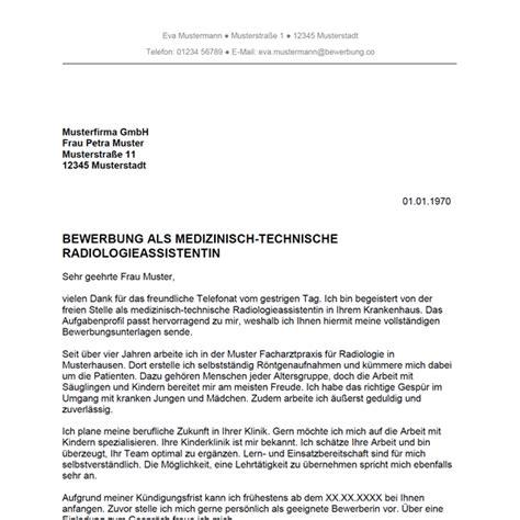 Bewerbung Als Technischer Verkaufer Bewerbung Als Medizinisch Technischer Radiologieassistent Medizinisch Technische