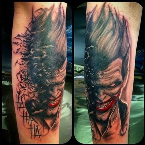 batman and joker tattoo 38 batman joker tattoos