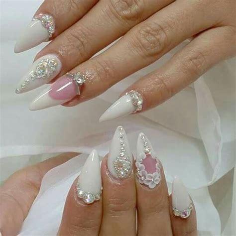 imagenes de uñas acrilicas picudas reciente decorado de u 241 as para novias modernas con piedras