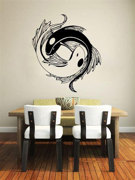 koi fish home decor wall decal yin yang koi fish geometric chinese asian home