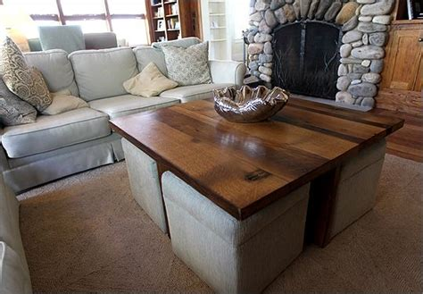 coffee table with ottomans under coffee table w ottomans underneath can be made using a
