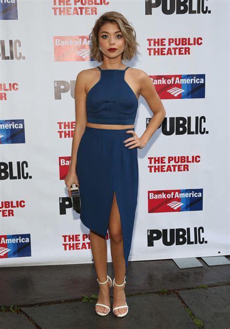 sarah hyland photos news and videos trivia and quotes sarah hyland photos photos the public theater s opening