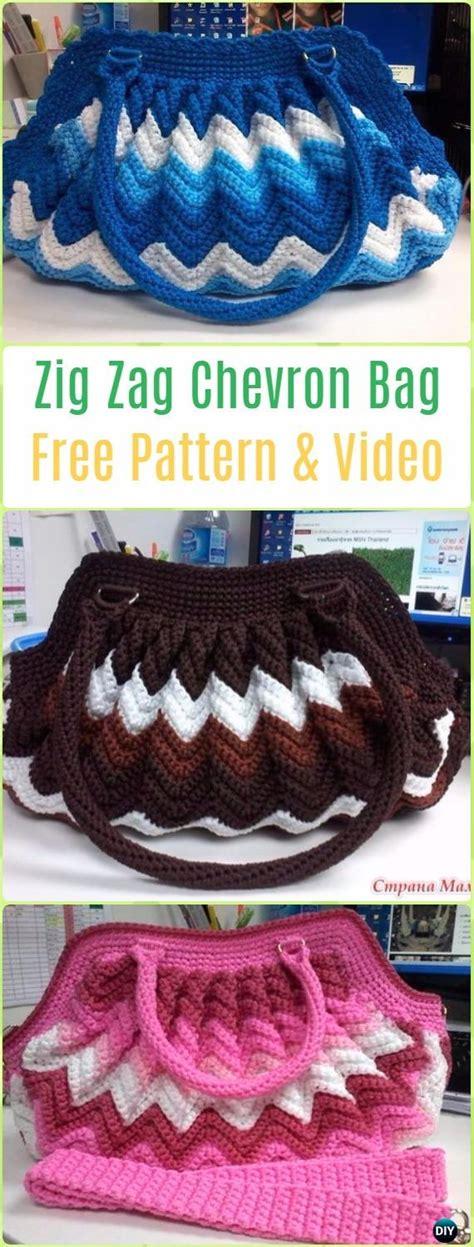 crochet zig zag purse pattern crochet handbag free patterns instructions