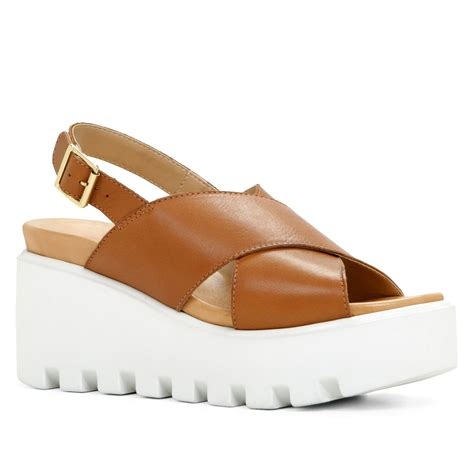 aldo brown sandals aldo noveglia platform sandals in brown cognac lyst