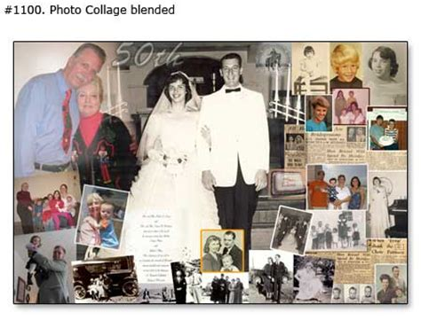 Wedding Anniversary Collage Ideas by 1 100 Year Anniversary Photo Collage