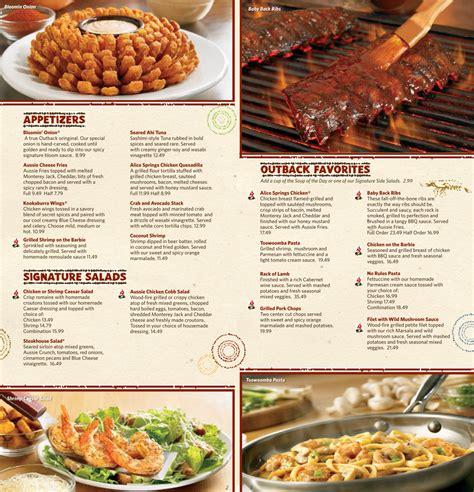 Outback Steak House Menu by Outback Steakhouse Bahamas Nassau Nassau Paradise