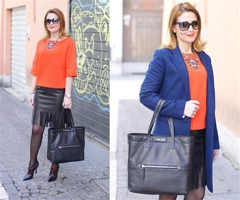 Blouse Vale vale miu tote bag h m blouse leather fringe skirt lookbook