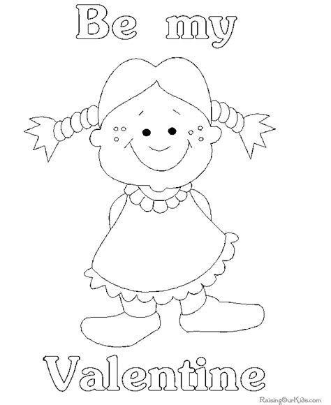 st valentine coloring page