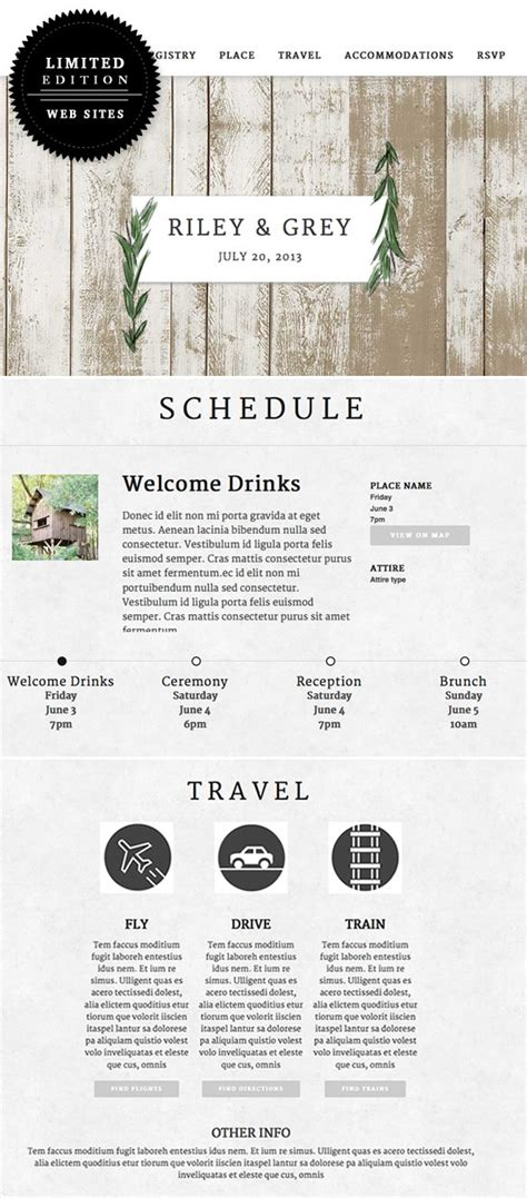 layout of wedding website blog luxe wedding websites riley and grey