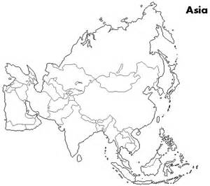 Asia Outline Map by Outline Maps