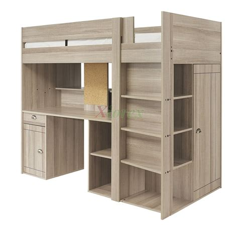 Loft Bed With Closet And Desk by Gami Largo Loft Beds For Canada With Desk Closet