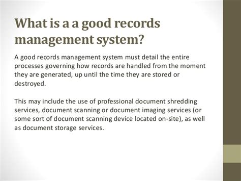 What Is Records What Is Records Management