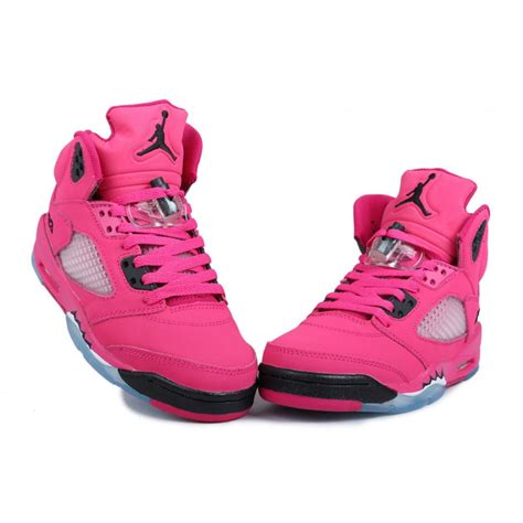 womens jordans shoes air 5 pink black price 71 80