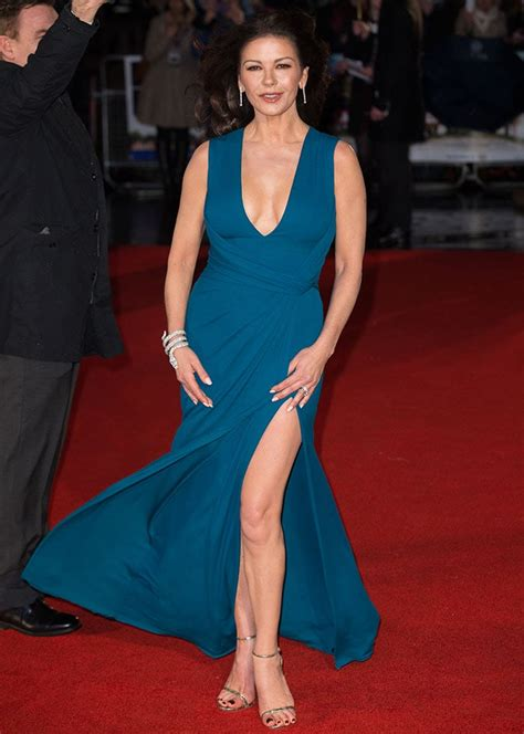 Catherine Zeta Jones Wardrobe by Catherine Zeta Jones Looks Daring In Stuart Weitzman
