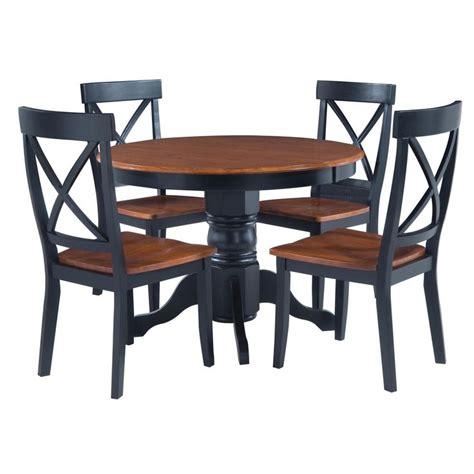 Black Pedestal Dining Table Set Black Cottage Oak 5 Dining Furniture Set