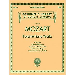 7 Of My Favorite Works Of by G Schirmer Mozart Favorite Piano Works Schirmer S Library