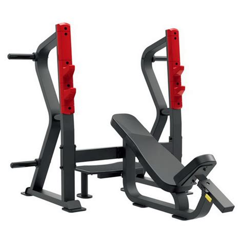 olympic incline bench press bodytastic escalate sl7029 olympic incline bench press plate loaded strength