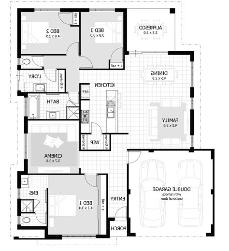 simple three bedroom house plan architecture design simple 3 bedroom house home combo