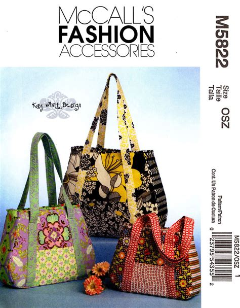 tote bag pattern mccalls mccall s sewing pattern m5822 bags purses totes handbags