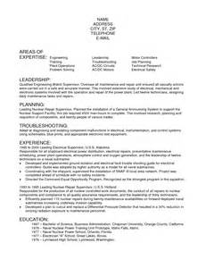 sle electrician resume sle electrician resume template free documents