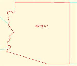 arizona outline map maps
