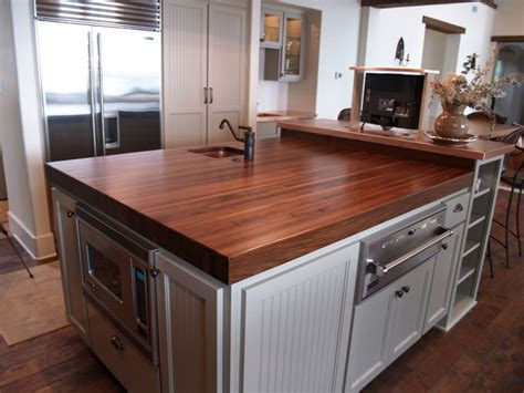 kitchen islands with butcher block tops question about black walnut countertops kitchens forum