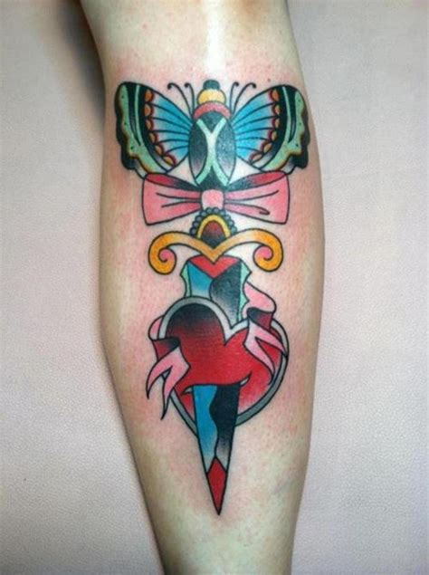 moth and dagger tattoo butterfly tattoos designs pictures page 6