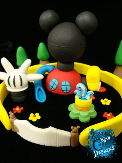 mickey mouse clubhouse cake topper set  krazykoolcakedesigns