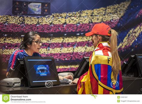barcelona official store at fc barcelona official megastore editorial photography