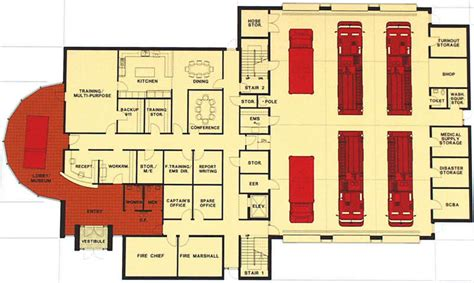 fire station floor plans fire station on pinterest fire site plans and floor plans