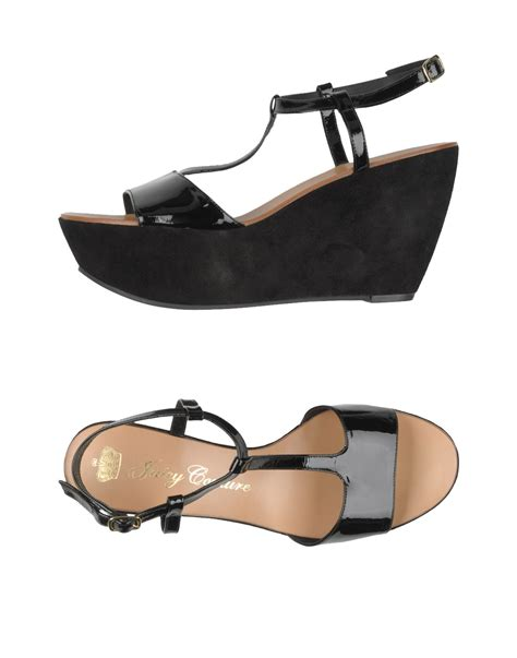 Sandal Wanita Couture Wedges couture sandals in black lyst
