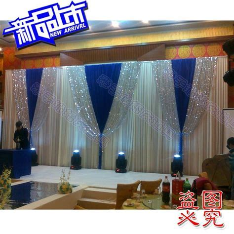 2014 background yarn curtain Wedding Backdrops blue