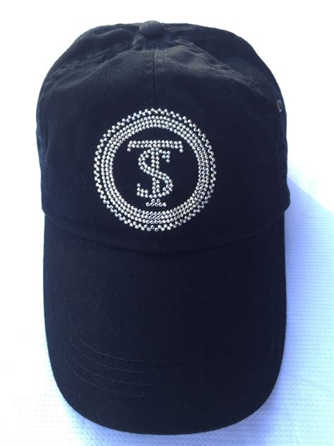 Logo Black Ts 1 ts logo bling hat black tate