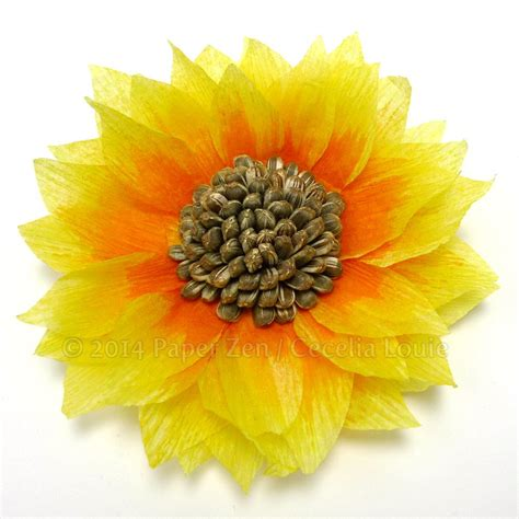 sunflower rubber st mixed media paper sunflower allfreepapercrafts