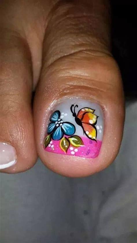 imagenes de uñas pintadas con mariposas decoraci 243 nes de u 241 as de pies con mariposas imagui