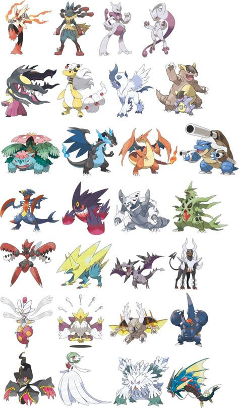 pokemon x and y mega evolutions long hairstyles