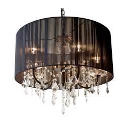 chandelier black shade black string shade chandelier