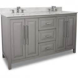 60 quot grey modern bathroom vanity van100d 60 t