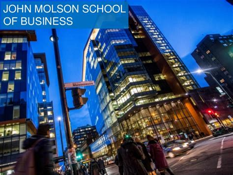 Molson School Of Business Mba by What Are The Economic And Social Effects That Jmsb Has On