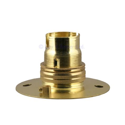 batten holder l shade solid brass l bulb holder fixed batten bc b22 shade