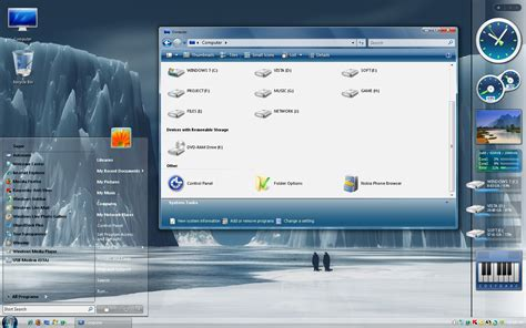 pc glass themes clear glass wb win xp theme themes for pc